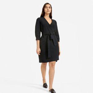 Everlane Go Weave Long Sleeve Mini Wrap Dress